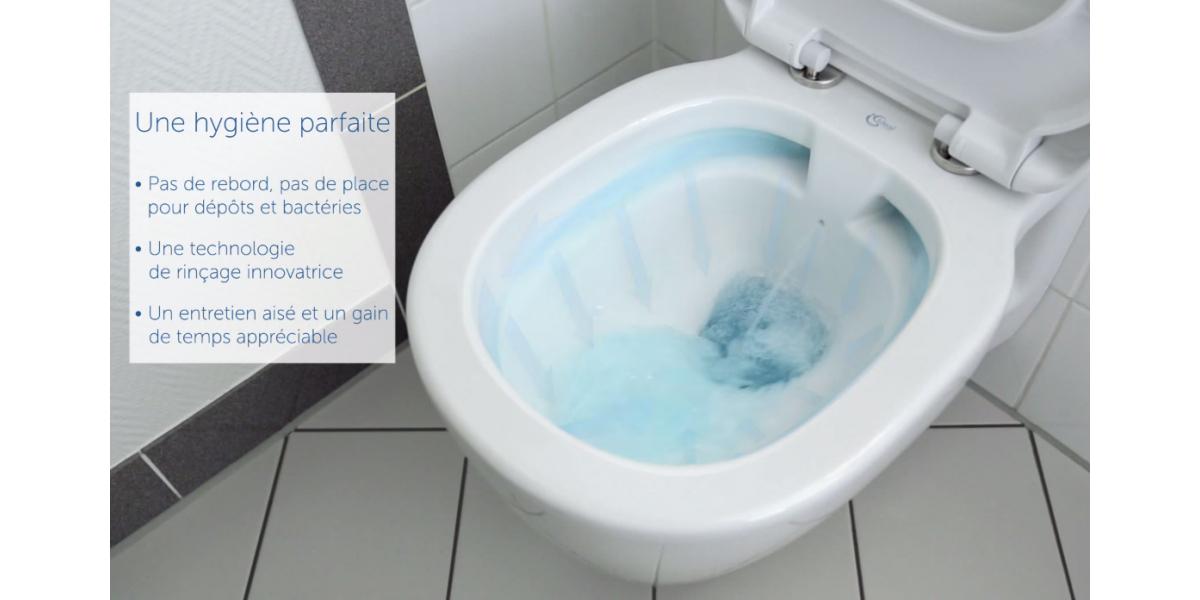 cuvette suspendue sans bride wc connect design. Black Bedroom Furniture Sets. Home Design Ideas