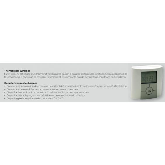 Radiateur Sèche-serviettes FUNKY électrique avec soufflerie booster