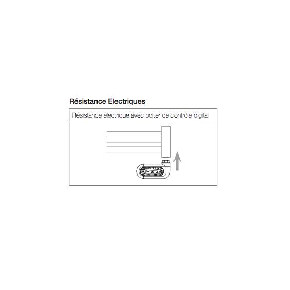Radiateur Sèche-serviettes ARCHE chromé électrique