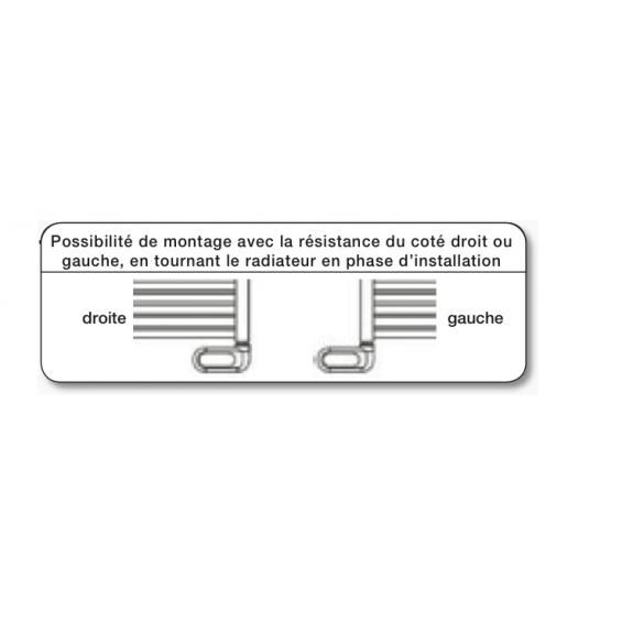Radiateur Sèche-serviettes FLÈCHE chromé électrique
