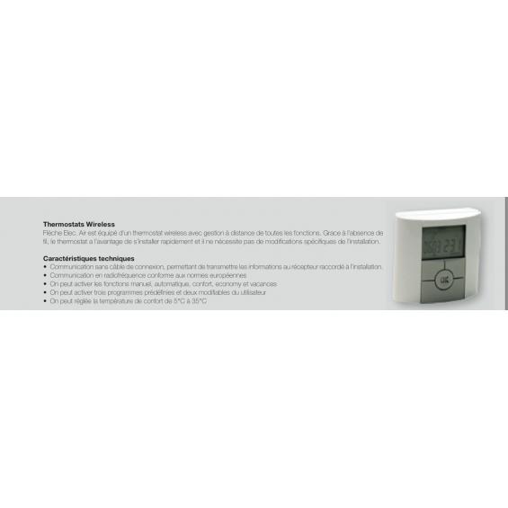 Radiateur Sèche-serviettes Flèche electrique avec soufflerie booster