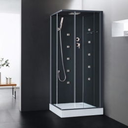 Découvrir Cabine de douche intégrale Irina Hydro Noir