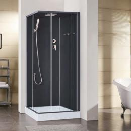 Découvrir Cabine de douche intégrale Irina Noir 90cm
