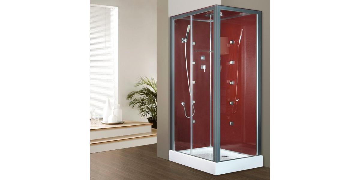 cabine de douche int grale hydromassante irina bordeaux en verre. Black Bedroom Furniture Sets. Home Design Ideas