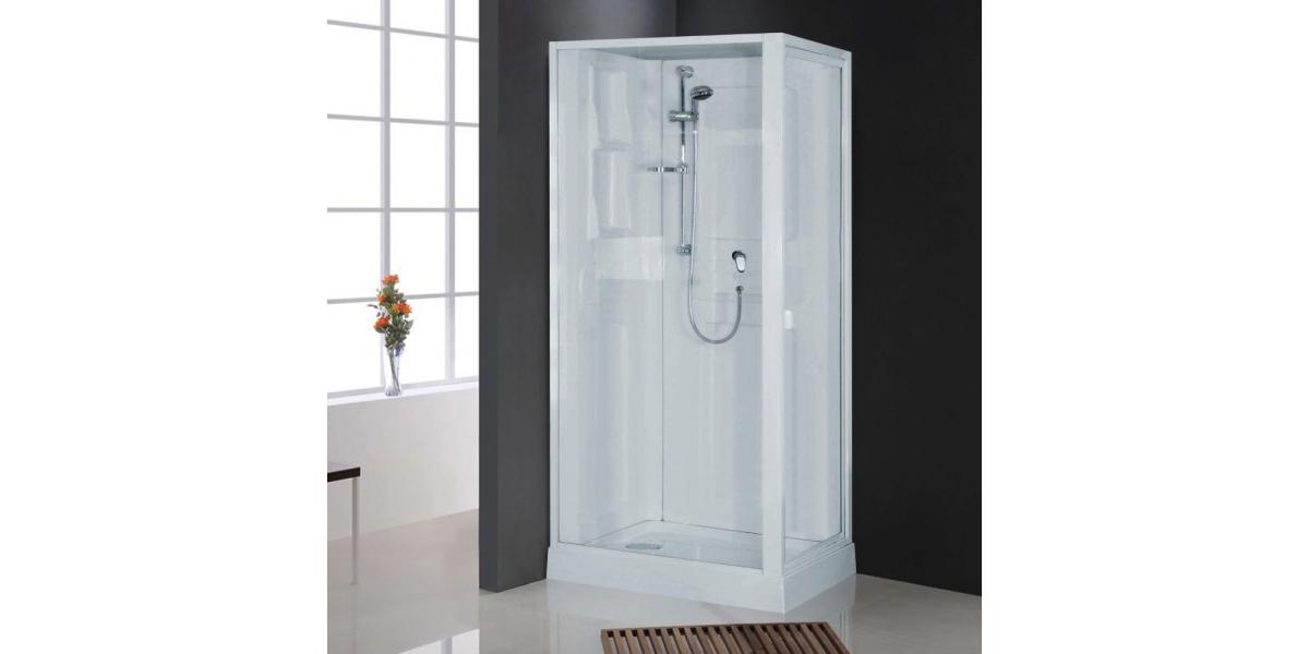 cabine de douche int grale nahuel blanche en verre. Black Bedroom Furniture Sets. Home Design Ideas
