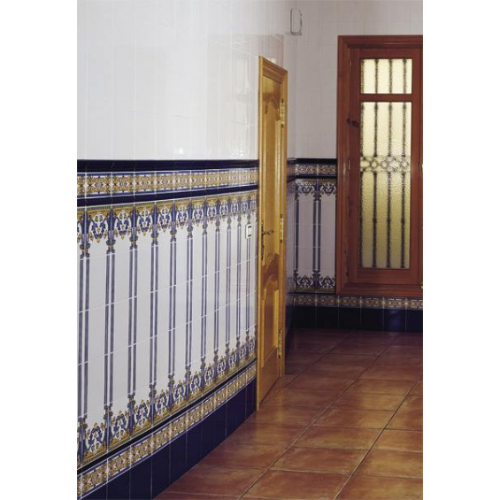 Cordon barroco azul antic 3*20 cm