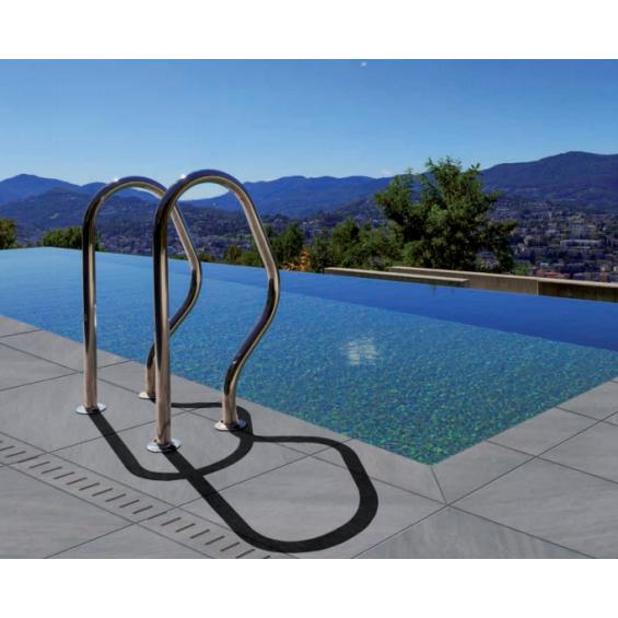 Margelle piscine Dylan graphito 30x60 cm