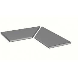 Découvrir Margelles d'angle piscine Dylan 30x60 cm (2 pièces)