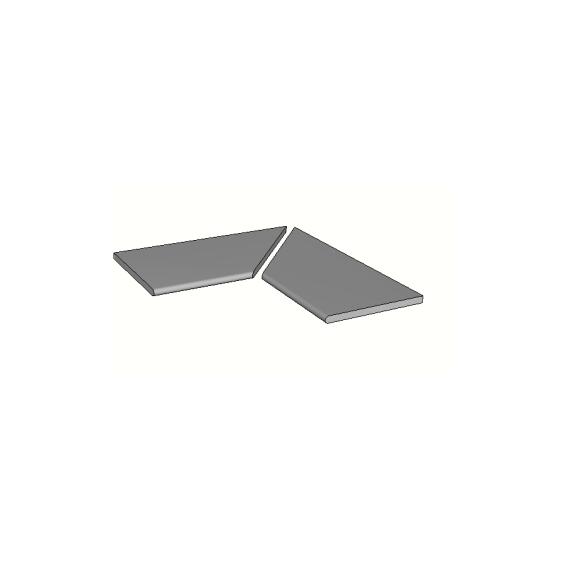 Margelles d'angle piscine Max 30x60 cm ( 2 pièces)