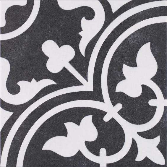 carreaux ciment noir et blanc romaique