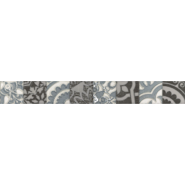 Découvrir Frise Fiore gris 5*40 cm