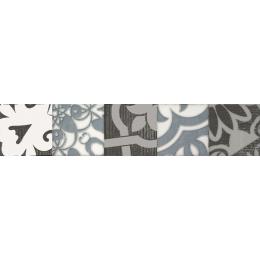 Découvrir Frise Fiore gris 5*25 cm