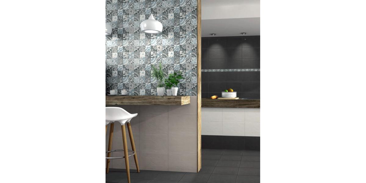 achat faience moderne frise fiore gris 5 25 cm. Black Bedroom Furniture Sets. Home Design Ideas