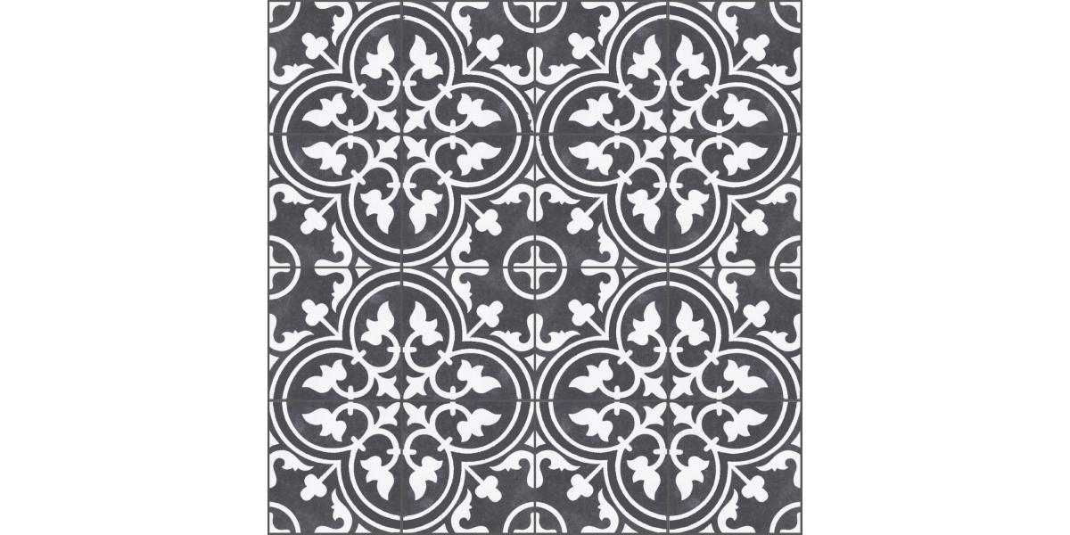 vente carreaux ciment noir et blanc romaique 25 25 cm pas. Black Bedroom Furniture Sets. Home Design Ideas