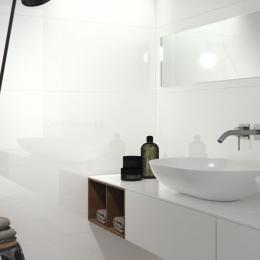 Blanco brillo 40*120 cm