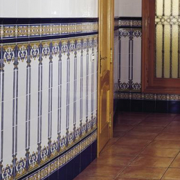 Cordon barroco azul antic 3*20 cm