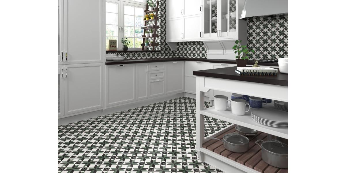 carrelage imitation carreaux de ciment castle celin 15 x 15 cm pas cher. Black Bedroom Furniture Sets. Home Design Ideas