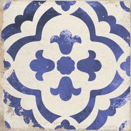 Carrelage sol effet carreaux de ciment Bayou monte blue 15*15 cm
