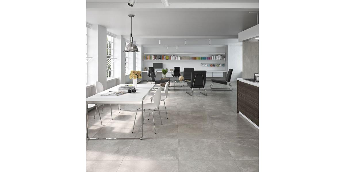 Achat carrelage Design gris perlé rectifier en grand format 90 x 90