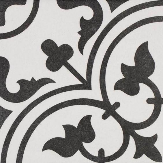 Carrelage imitation carreaux ciment romaique white