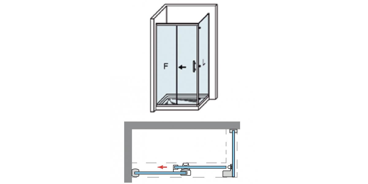 Vente en ligne porte de douche coulissante d 39 angle marbella pas cher - Porte coulissante d angle ...