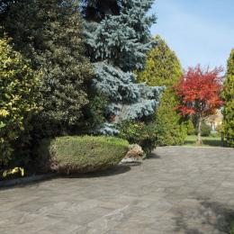 Carrelage sol extérieur effet pierre minéral grigio R9 45*90cm