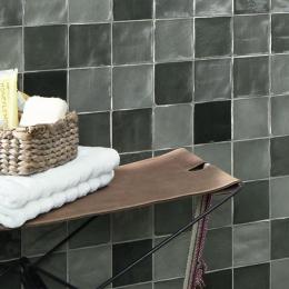 Carrelage mur effet zellige mix grey 10*10 cm