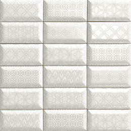 Metro luxor white 10*20 biseauté