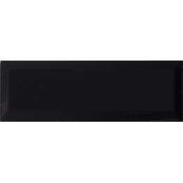 Carrelage mur Métro noir 10*30 biseauté