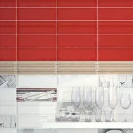 Metro rojo 10*30 biseauté
