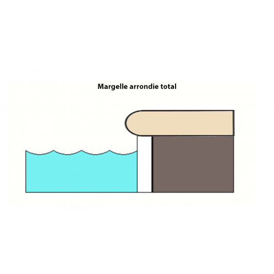 Margelle piscine Paco blanc 30x60 cm