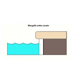 Margelle d'angle piscine Menhir 30x60 cm / Tous coloris
