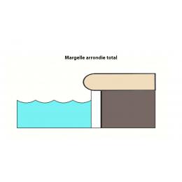 Margelle piscine Menhir beige 30x60 cm