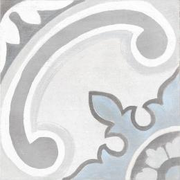 Carrelage sol effet carreaux de ciment Thales gales white 20*20 cm