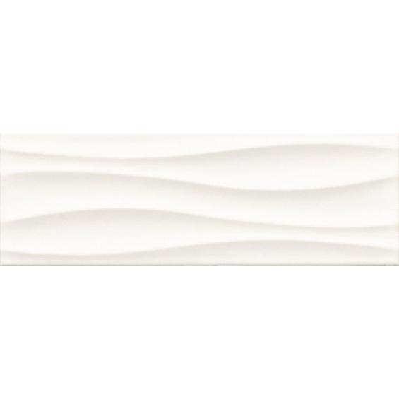 Blanco ondas mate 20*60 cm