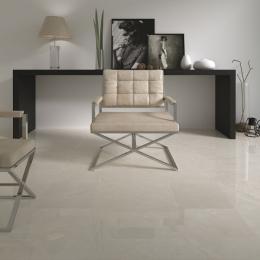 Carrelage sol poli effet marbre Hight marfil 90*90 cm