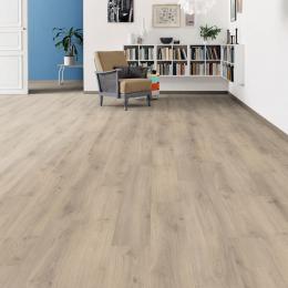 Sol stratifié Eldorado planche large chêne emilia gris velours 19,3*128,2 cm