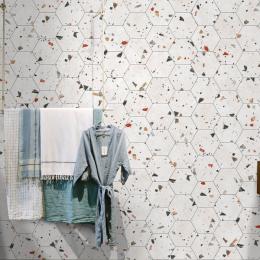 Marmo granito white hexagonal 22*25 cm
