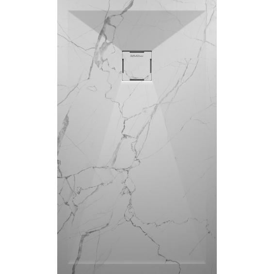 Marbre blanc grille colorée