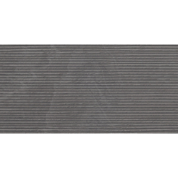 Carrelage mur et sol Onyx groove anthracite 30*60 cm