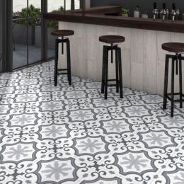 Carrelage sol effet carreaux de ciment République grey 25*25 cm