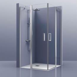 Découvrir Portes de douche angle double pivotante Brest
