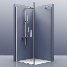 Portes de douche d'angle pivotante Azur