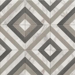 Carrelage sol effet carreaux de ciment Haussman décor wood 20*20 cm