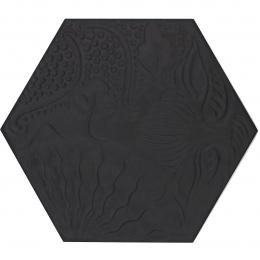 Carrelage sol hexagonal Gaudi hex Black 25x25 cm