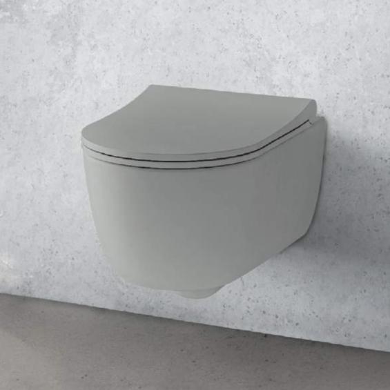 Cuvette suspendue WC First gris mat