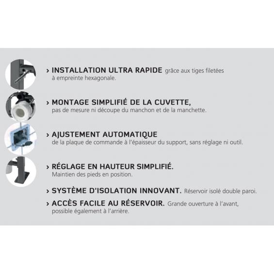 Bati-support autoportant compact plus