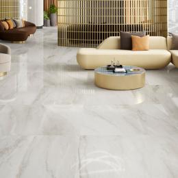 Carrelage sol poli effet marbre Novo lasa 120*120 cm