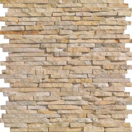 Parement pierre naturelle Wall small beige 15X45 cm