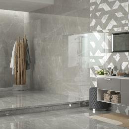 Carrelage sol et mur poli effet marbre Botticcino outline cold 60*120 cm